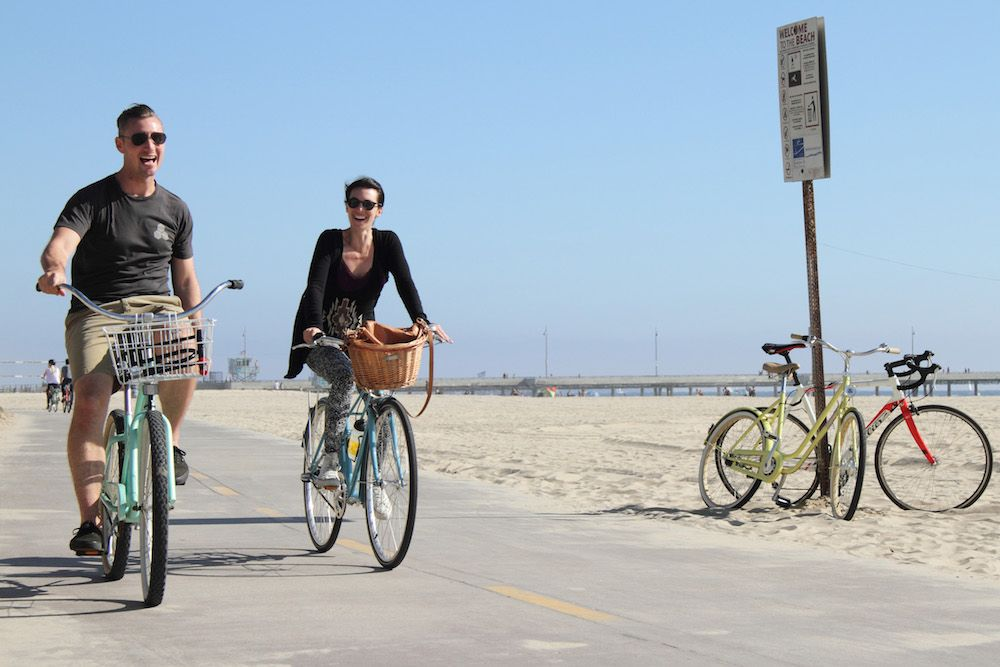 Bikers on Venice Beach