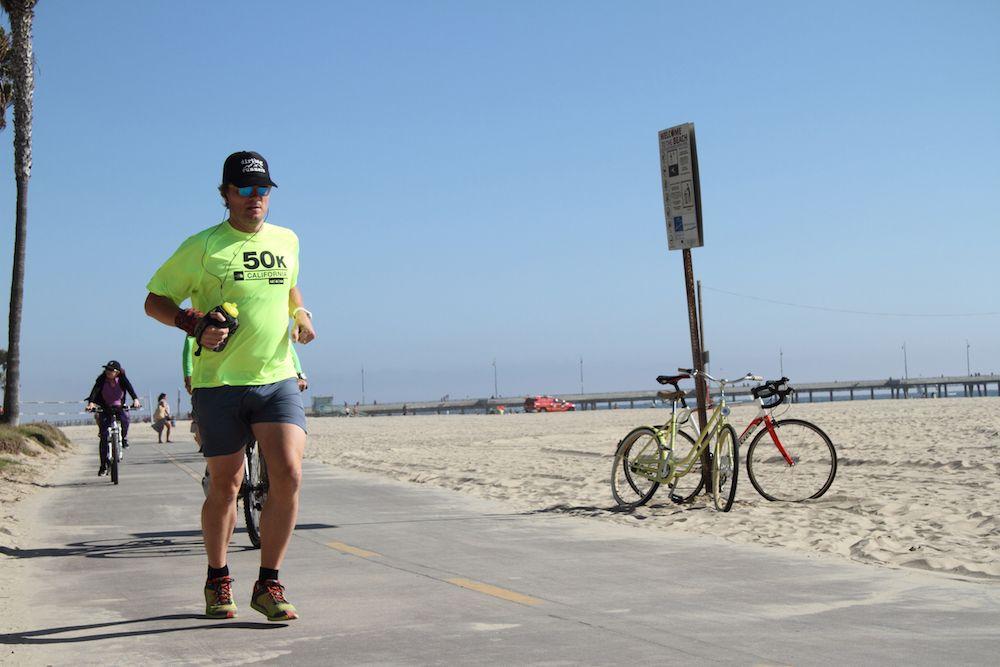 Jogger on Venice Beach