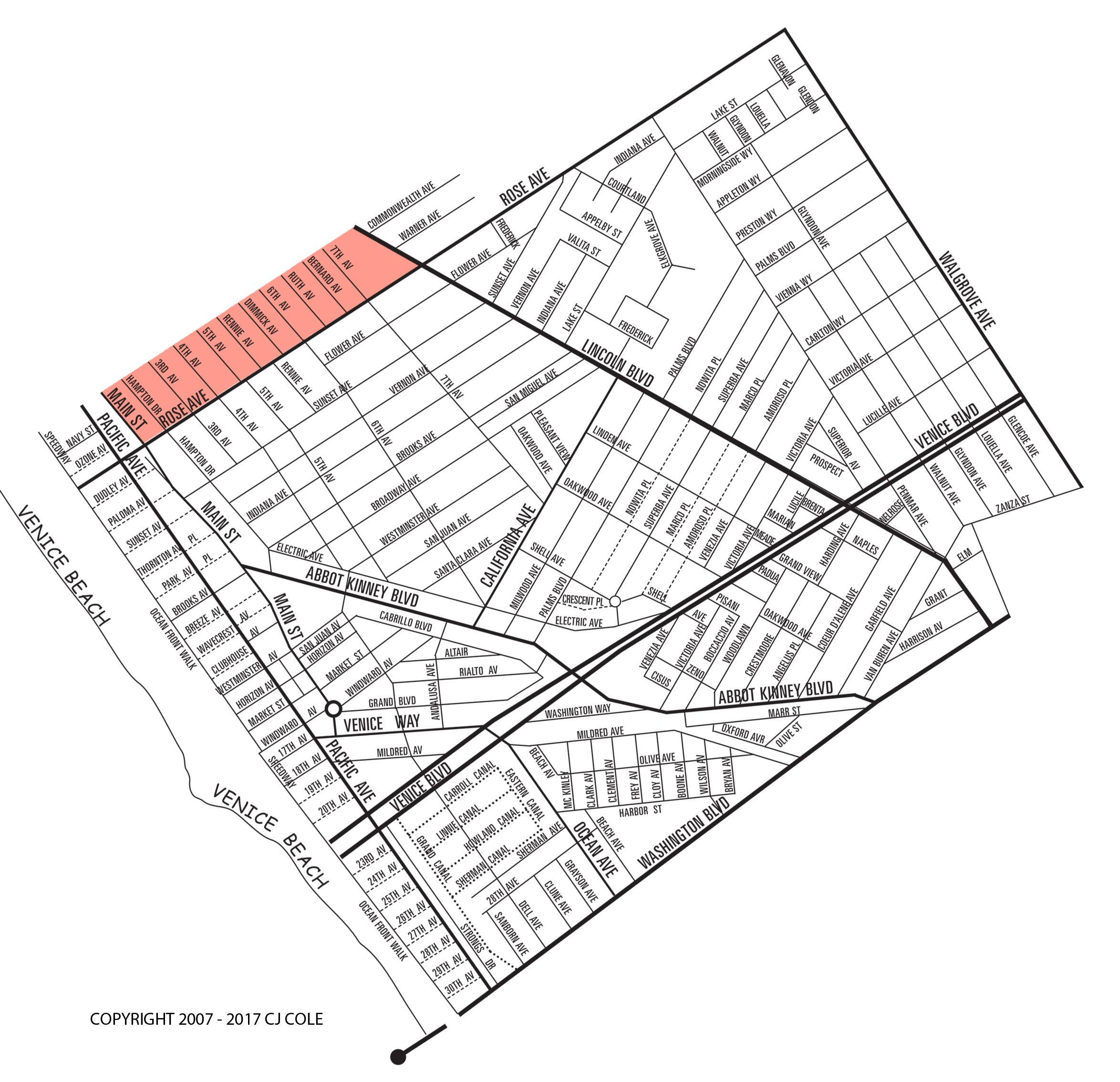 The North of Rose Neighborhood Map
