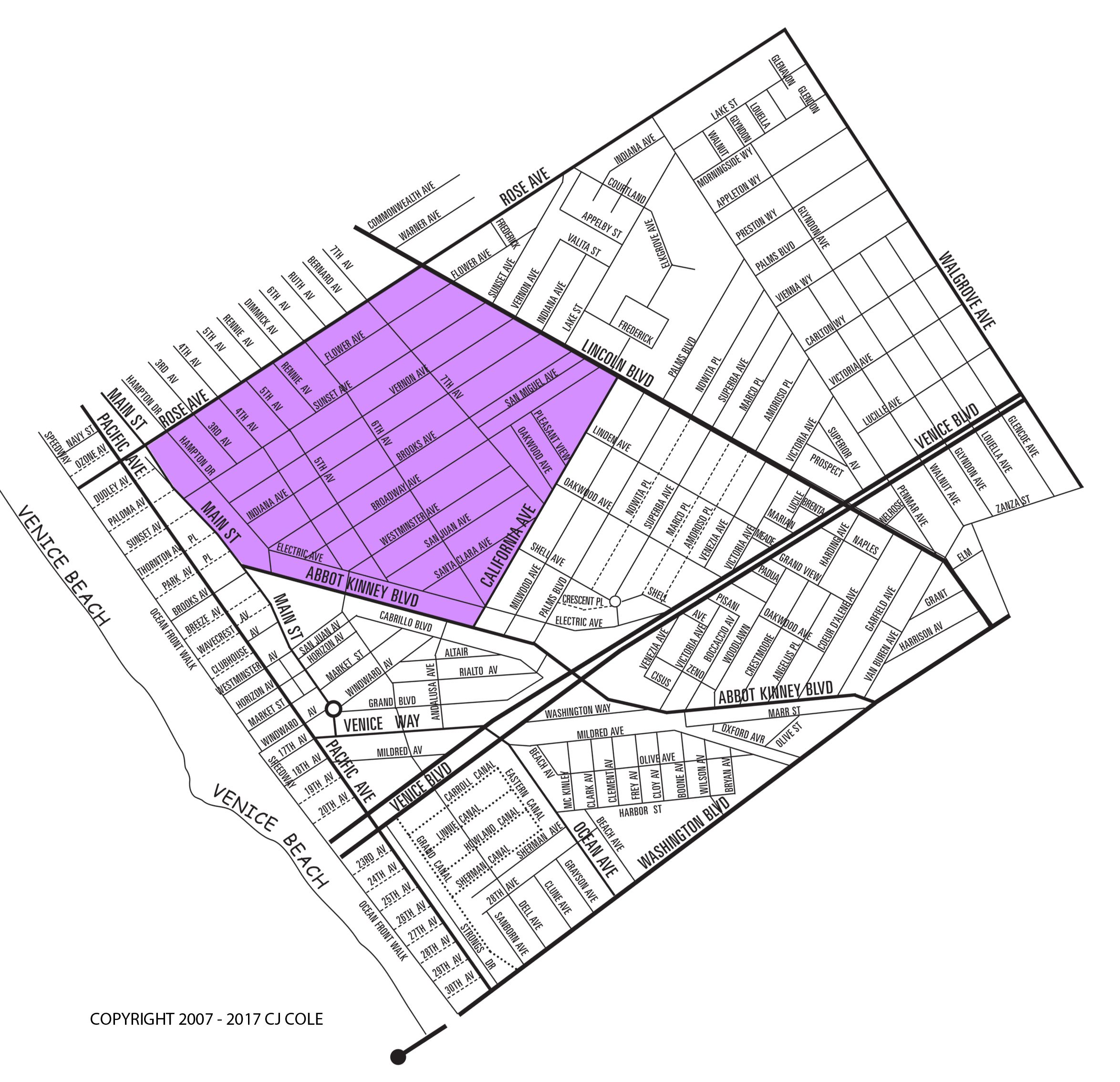 The Oakwood Neighborhood Map