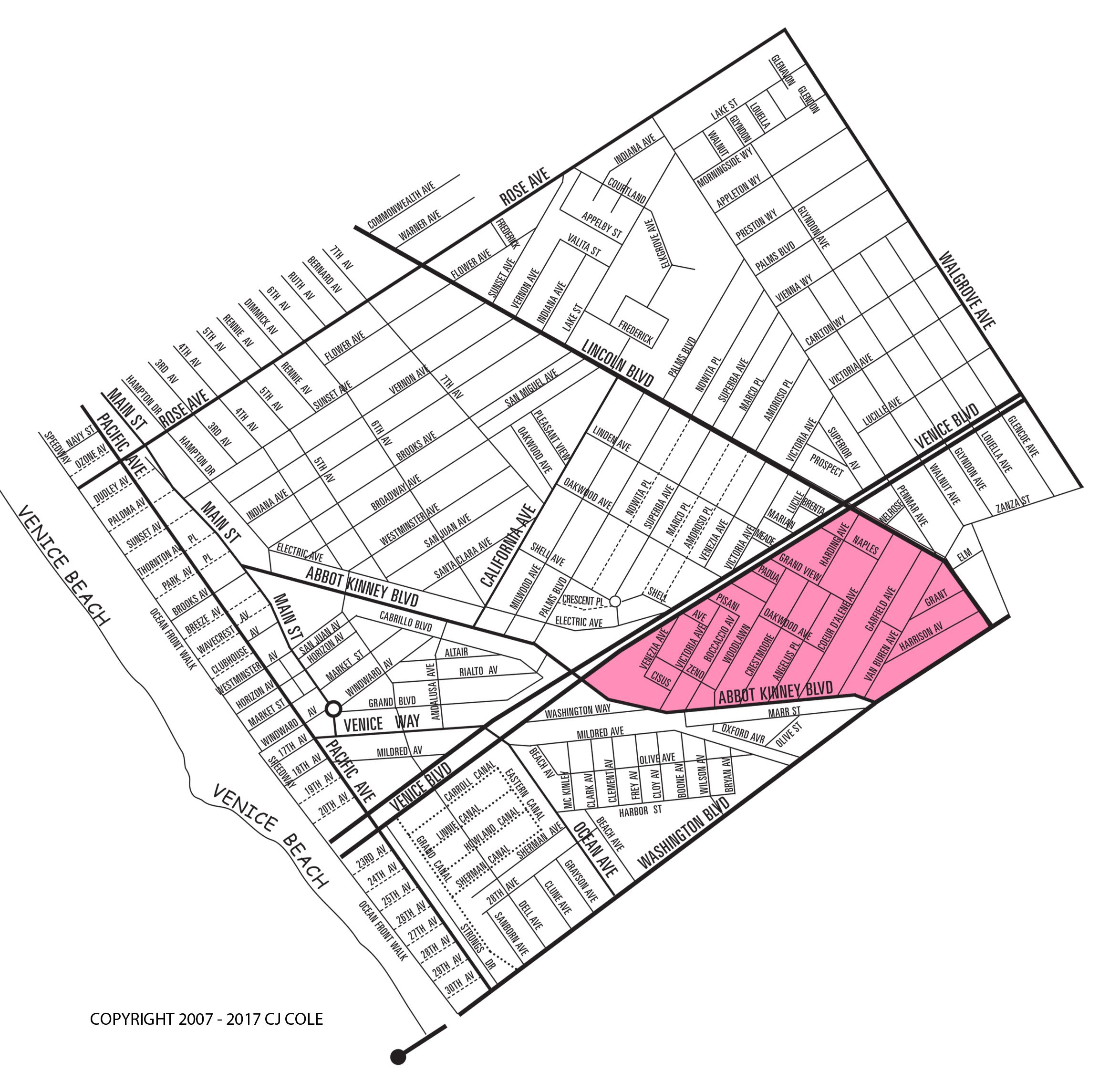 President's Row Neighborhood Map
